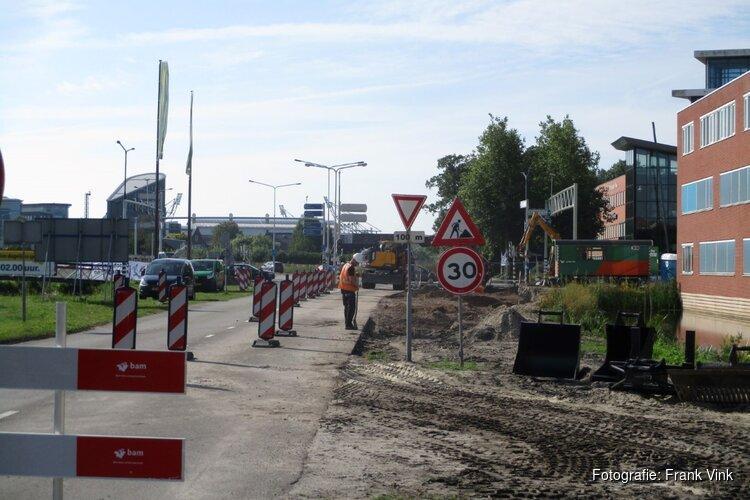 Afslag Weinmakker karel Poststraat gestremd voor het verkeer
