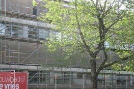 Renovatie buitengevels polikliniek ziekenhuis de Tjongerschans Heerenveen begonnen