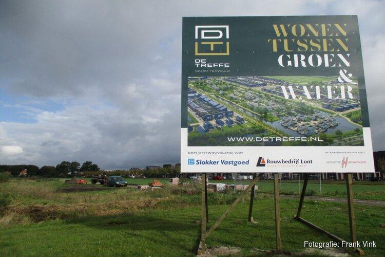 Woningbouwbord De Treffe in wijk Skoatterwald Heerenveen geplaatst!