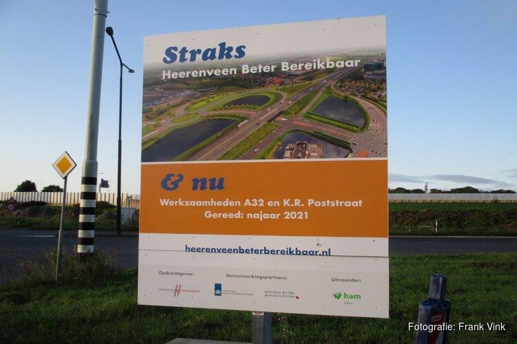 Aanleg en grondwerkzaamheden nieuwe rotonde Mercurius en K.R. Poststraat in beeld