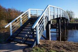 Fiets en voetgangersbrug Veenscheiding weer in gebruik!