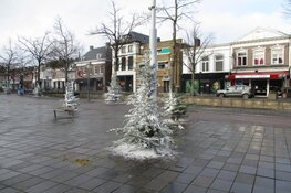 Kerstbomen in het centrum van Heerenveen fraai versierd