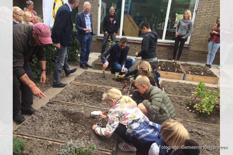 Wethouder opent educatieve groentetuin in Heerenveen