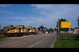 Werkzaamheden aan spooroverweg Jousterweg in Heerenveen