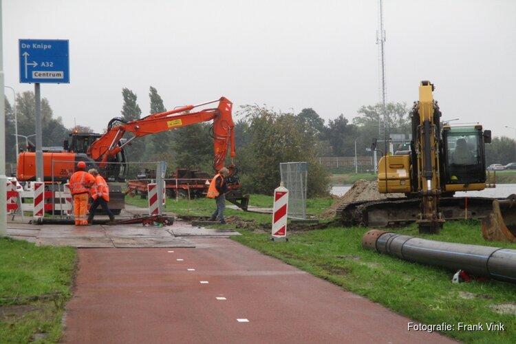Fietspad Mercurius in Heerenveen gestremd