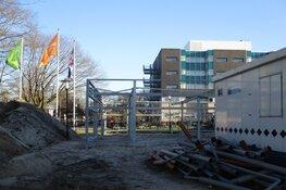 Bouw nieuwe fietsenstalling ziekenhuis 'de Tjongerschans'  vordert gestaag