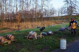 Luide knallen bij het carbidschieten in Haskerdijken