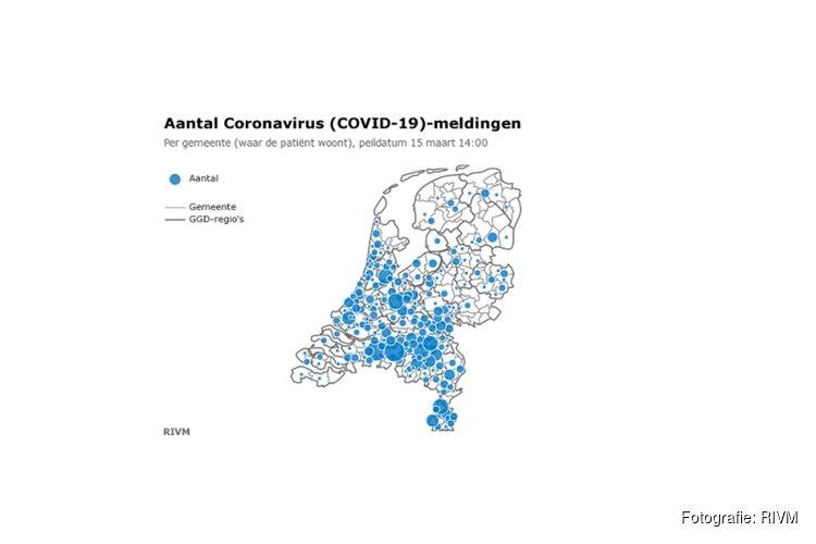 Aantal besmettingen in Nederland nu op 1135. Twintig personen overleden
